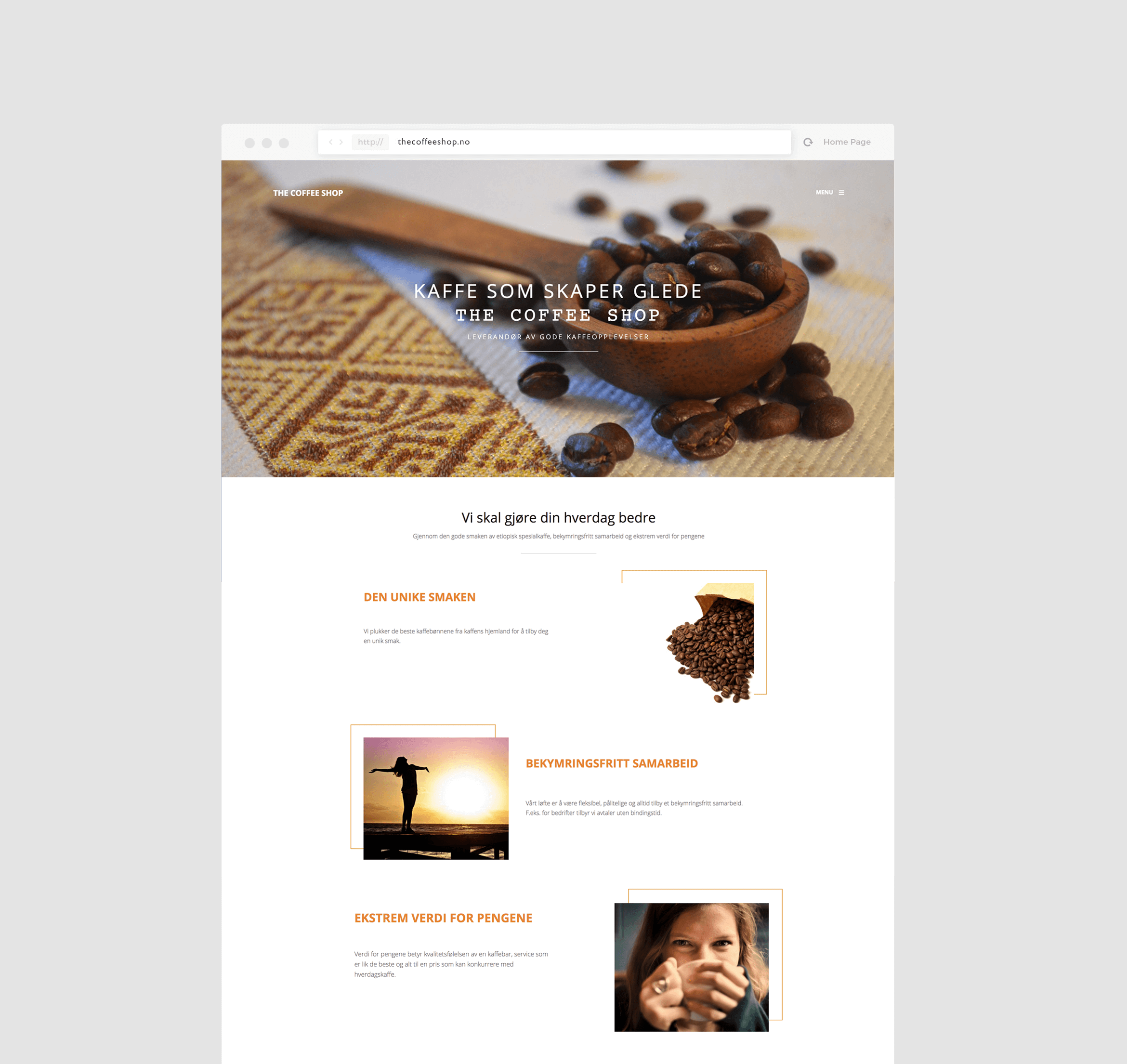 The Coffee Shop Website Design Service by Resolution Studio
