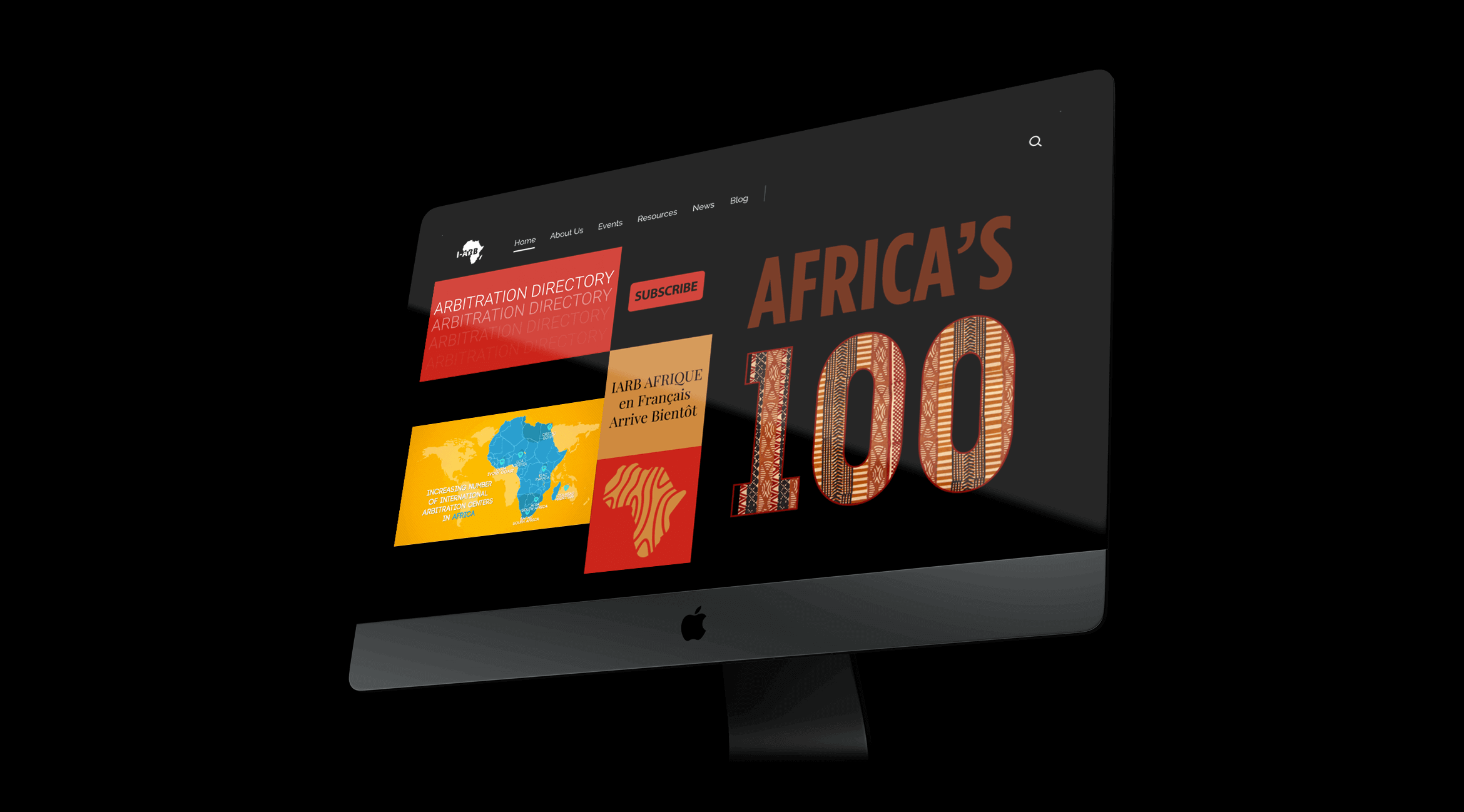 IARB Africa Website Design and development by Resolution Studio