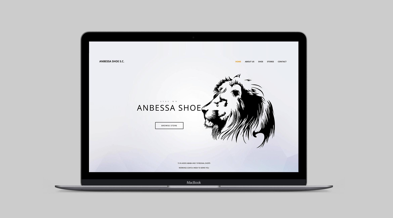 Anbessa Shoe Website Design