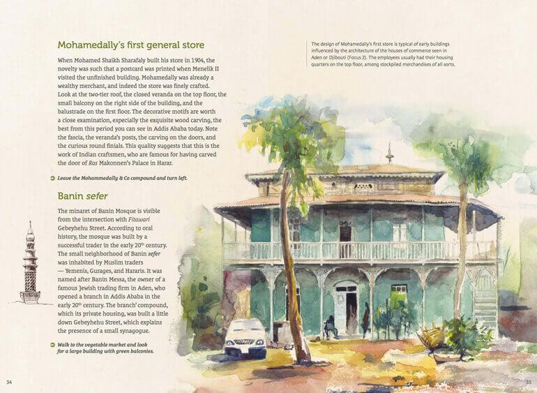 Graphic Design , editorial Design, art Direction, Illustration for Ethiopian city guide